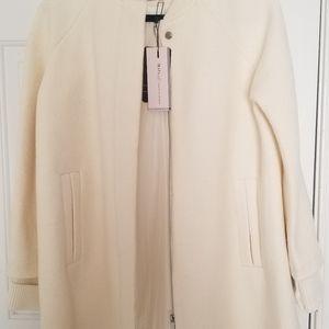 Zara off white winter coat